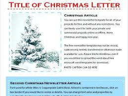 Perfect Holiday Newsletter Sample Template Free Templates