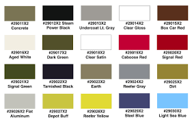 Lionel Paint Color Chart Best Picture Of Chart Anyimage Org