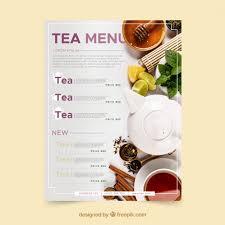 Tea Menu Template In Flat Style Vector Free Download