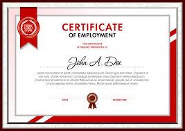 Certificado De Plantilla En Blanco De Empleo Descargar Vectores