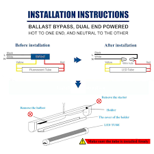 Wiring Fluorescent Lights To Led T12 Led Diagram Wiring Diagram 500