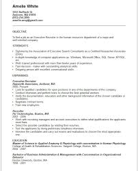 How To Write A Killer Resume 17 Executive Recruiter Template Are