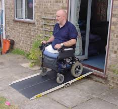 image of portable wheelchair ramps for stairs