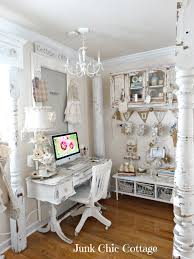 shabby chic office. charming home tour junk chic cottage shabby officeshabby office e