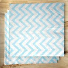 Light Blue Chevron Paper Napkins 20 White And Light Blue Chevron Paper Lunch Napkins