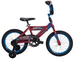 16 marvel spider man boys ez build bike red