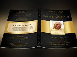 1240x930 black gold dignity funeral program template by serv designs