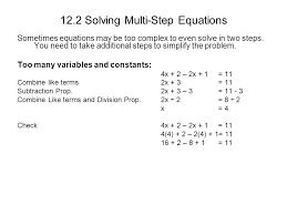 12 2 solving multi step equations