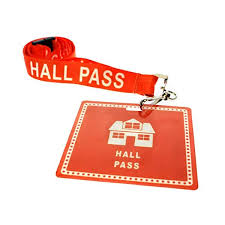 Student Hall Pass 6 Pack Student Hall Pass Lanyards With Unbreakable Card