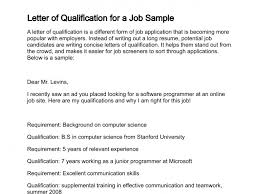 Sample Statement Of Interest Fascinating Letter Of Qualification
