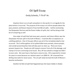 oil spill essay i will be contrasting the deepwater horizon and  document image preview