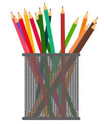 pencil drawing pot clipart