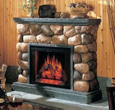 full image for castlecreek electric stone fireplace heater fireplaces pictures classic flame faux river rock stacked