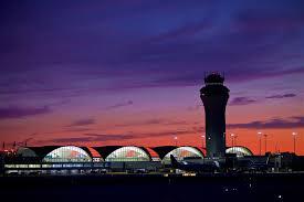 sunset of stl st louis lambert international airport flystl
