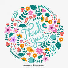 Floral Thank You Card Vector Free Download