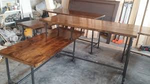 l shaped desk for two. Fine For Rustic Industrial L Shaped Two Tier Desk Done With Pipes With Shaped Desk For Two T