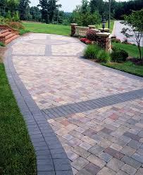 paver banding design ideas for pavers