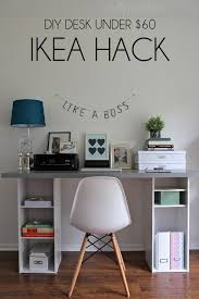 ikea desk with storage shelves