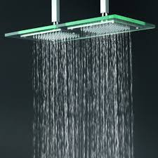 contemporary 6 inch 12 inch glass square led rainfall shower head t321