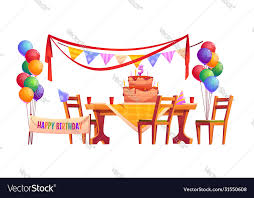 birthday party outside royalty free vector