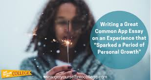 """experience that sparked a period of personal growth dr  experience that """"sparked a period of personal growth"""""""