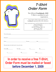 T Shirt Order Forms 24 T Shirt Order Form Template Excel Free Invoice Letter 12