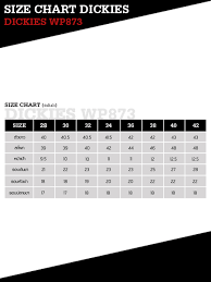 Dickies Size Chart Mens