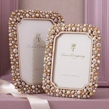 crystal and pearl photo frames