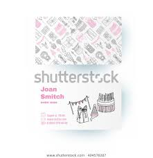 Happy Birthday Business Card Business Card Template Happy Birthday Elements Stock Vector