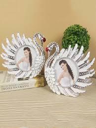 2pcs photo frames set creative couple swans shaped picture frames set photo als frames at jolly chic