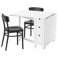 Norden Gateleg Table Idolf Norden Table And 2 Chairs White Black 89 Cm Ikea
