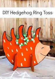 hedgehog ring toss game diy