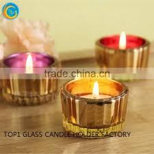 gold mercury glass votives mirror effect small glass tealight holder glass