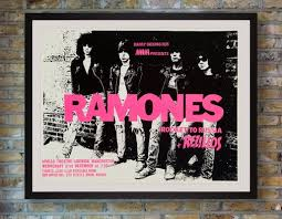 Concert Poster Design The Ramones Concert Poster 1970s