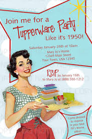 Tupperware Party Invitations Printable Diy 50s Retro Housewife Theme Tupperware Party Invitation