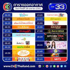 Ch3Thailand - ตารางออกอากาศ ประจำวันอาทิตย์ที่ 29 เมษายน 2561 ของ #ช่อง33  ติดตามผังรายการช่อง3 เพิ่มเติมที่ ch3thailand.com/ผังรายการช่อง3  #Ch3Thailand #ผังรายการช่อง33 #ช่อง3