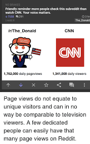 Than Viewers 3 7558 Reminder No More This Check Donald Great Friendly The I Daily Pageviews Voice 1762000 Hr Views Reddit People Again In Visitors And 1341000 Can Page Cnn Matters Unique Brakes To Your Watch Equate 291 Not Subreddit Do