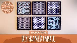 on fabric wall art panels with diy framed fabric gallery wall hgtv handmade youtube