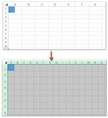 Square Grid Excel Chart How To Create Grid Paper Square Template In Excel