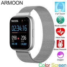 <b>ARMOON</b> P6 1.4 inch <b>Smart Watch</b> Men Women Full Touch Fitness ...