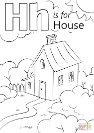Small Picture Letter H is for House coloring page Free Printable Coloring Pages