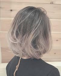 冬のホワイトグラデーションカラー Nat ヘアスタイリングヘアー
