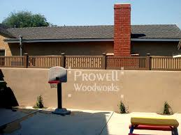 wall top custom wood fence panels 1 in