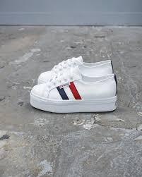 superga 2790 full platform white leather french flag