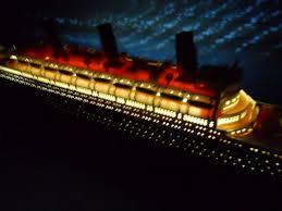 rms titanic limited w led lights model cruise ship 50