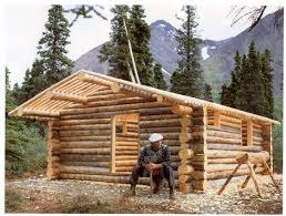 prev next proenneke takes break building his alaskan log cabin hand