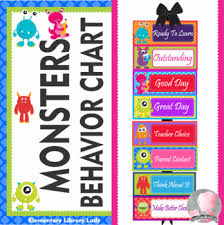 Library Decoration Chart Monsters Decor Behavior Clip Chart Editable