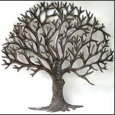 wall art ideas design sculpture metal tree