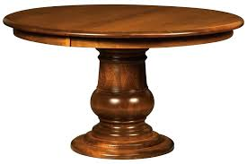 amish round pedestal dining table solid wood traditional extendable 54 round pedestal dining table wood