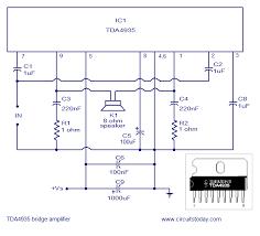 bridge amplifier using tda circuit diagram for watts amplifier circuit diagram of tda4935 bridge amplifier